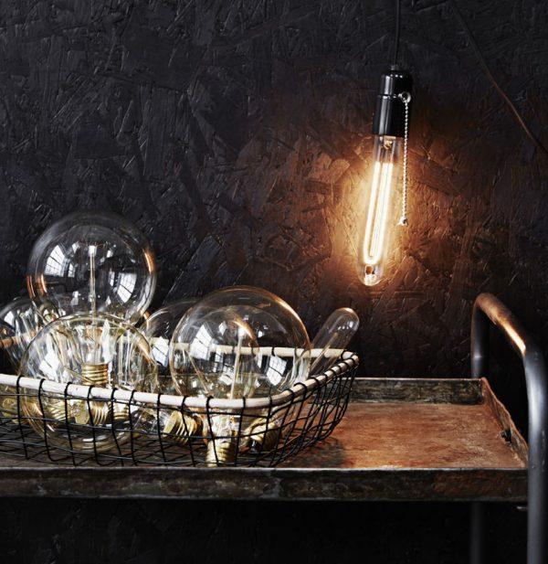 Madam Stoltz lamphållare industristil mässing