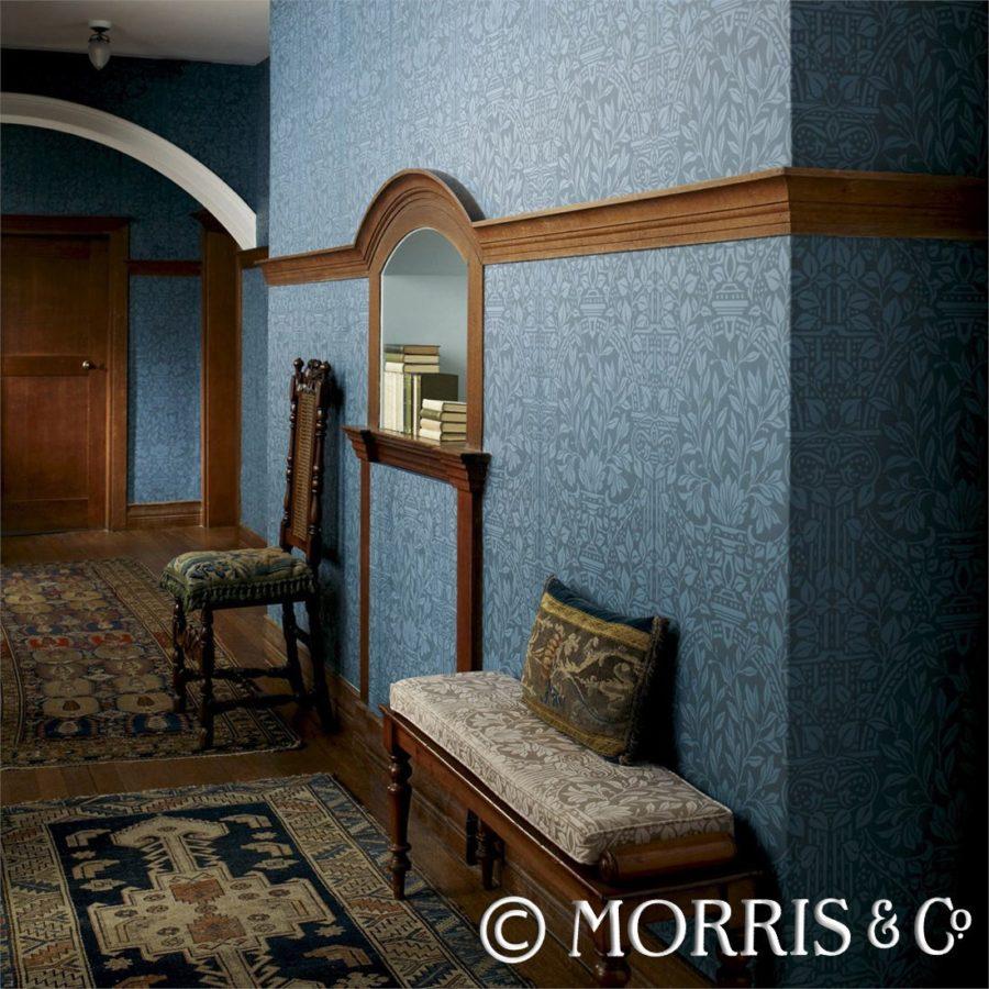Morris & Co Tapet Garden Craft Duckegg