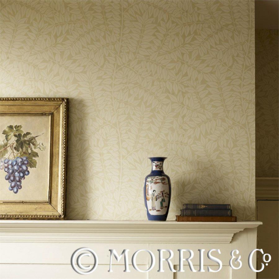 Morris & Co Tapet Branch Tempera/Cream