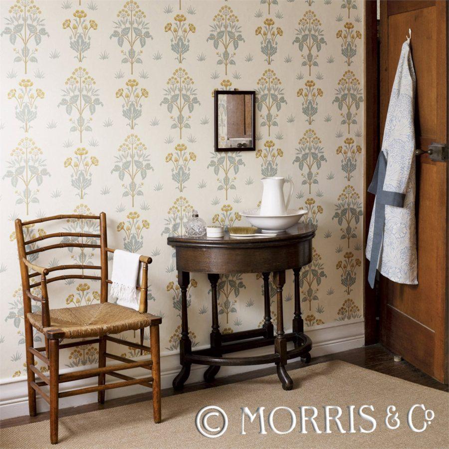 Morris & Co Tapet Meadow Sweet Cornflower