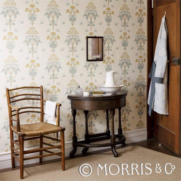Morris & Co Tapet Meadow Sweet Gold