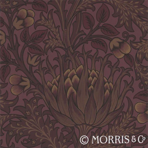 Morris & Co Tapet Artichoke Wine