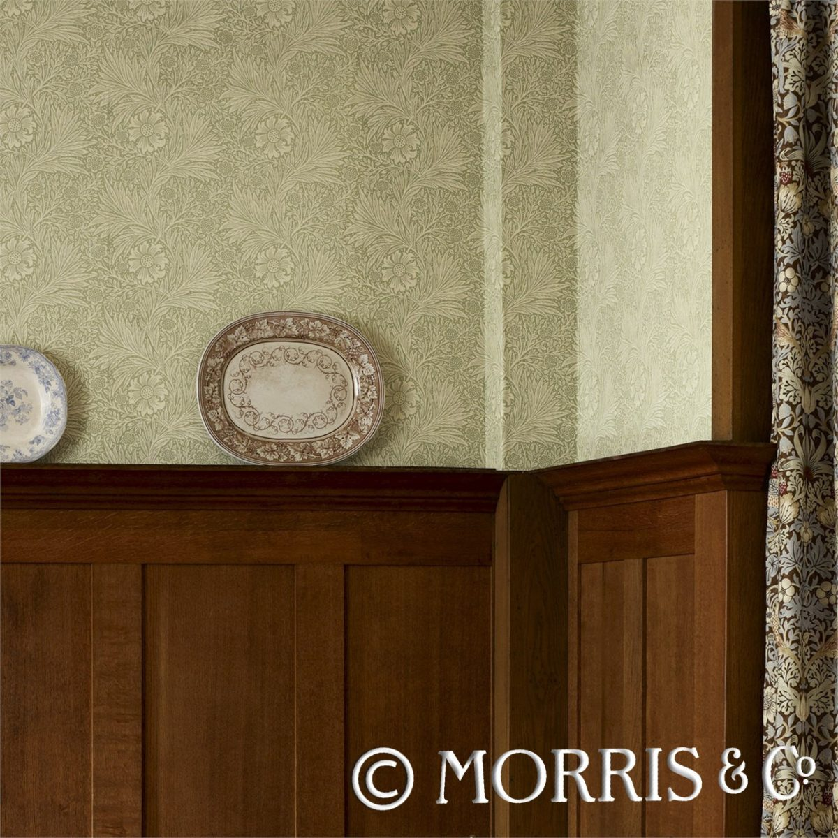 Morris & Co Tapet Marigold Wedgwood