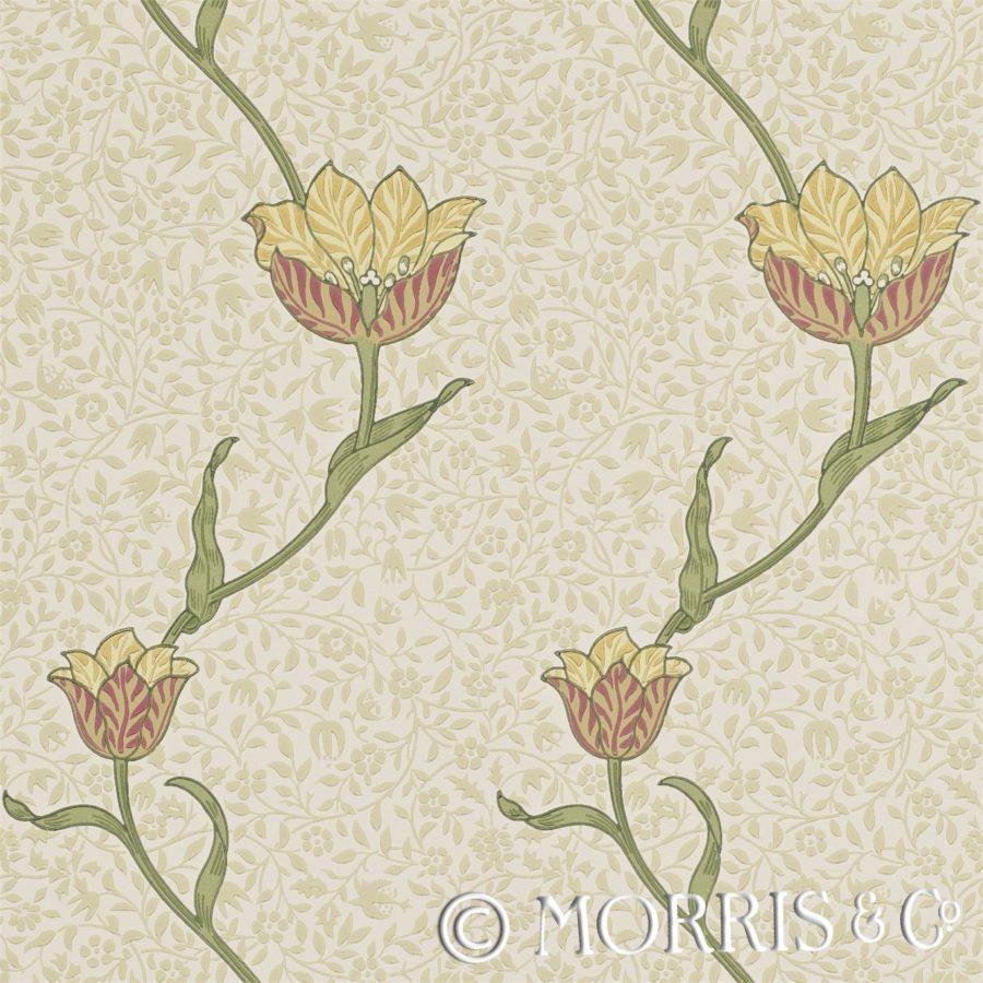 Morris & Co Tapet `Garden Tulip`RUsset