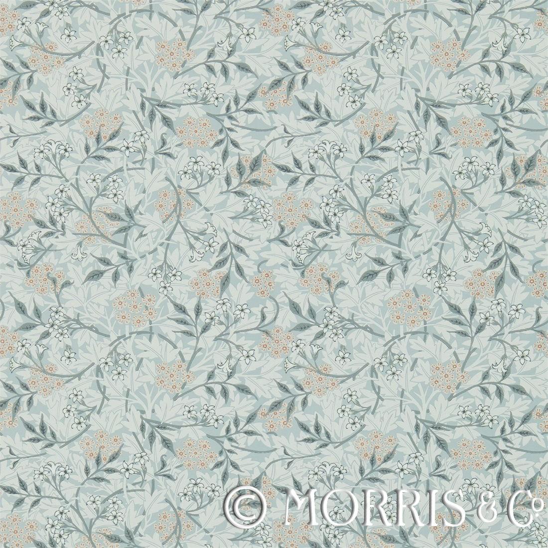Morris & Co Tapet Jasmine Silver/Charcoal