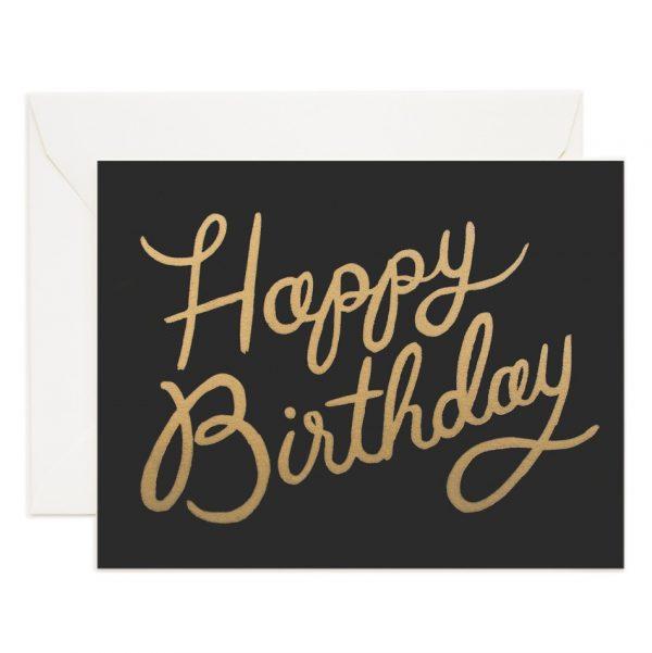 Rifle Paper Co Kort Happy Birthday svart