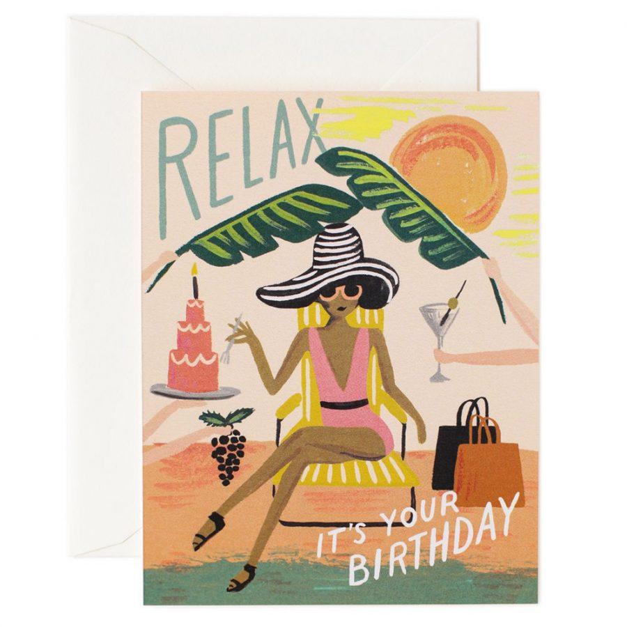 Rifle Paper Co Födelsedagskort Relax