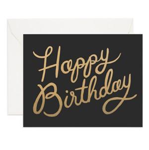 Gratulationskort happy birthday svart