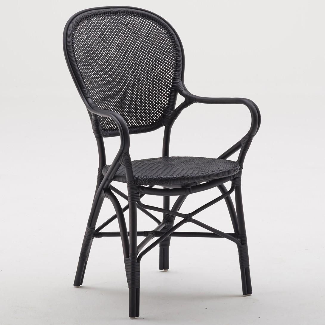 SIKA Design rottingstol Rossini svart