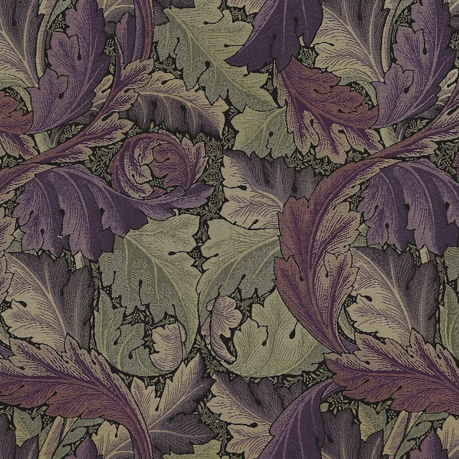 William Morris Tyg Acanthus Grape / Heather