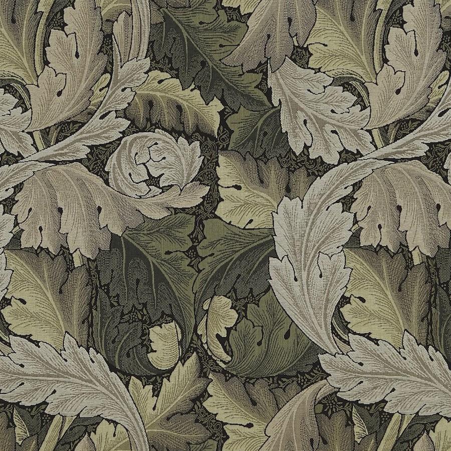 William Morris Tyg Acanthus Forest Hemp