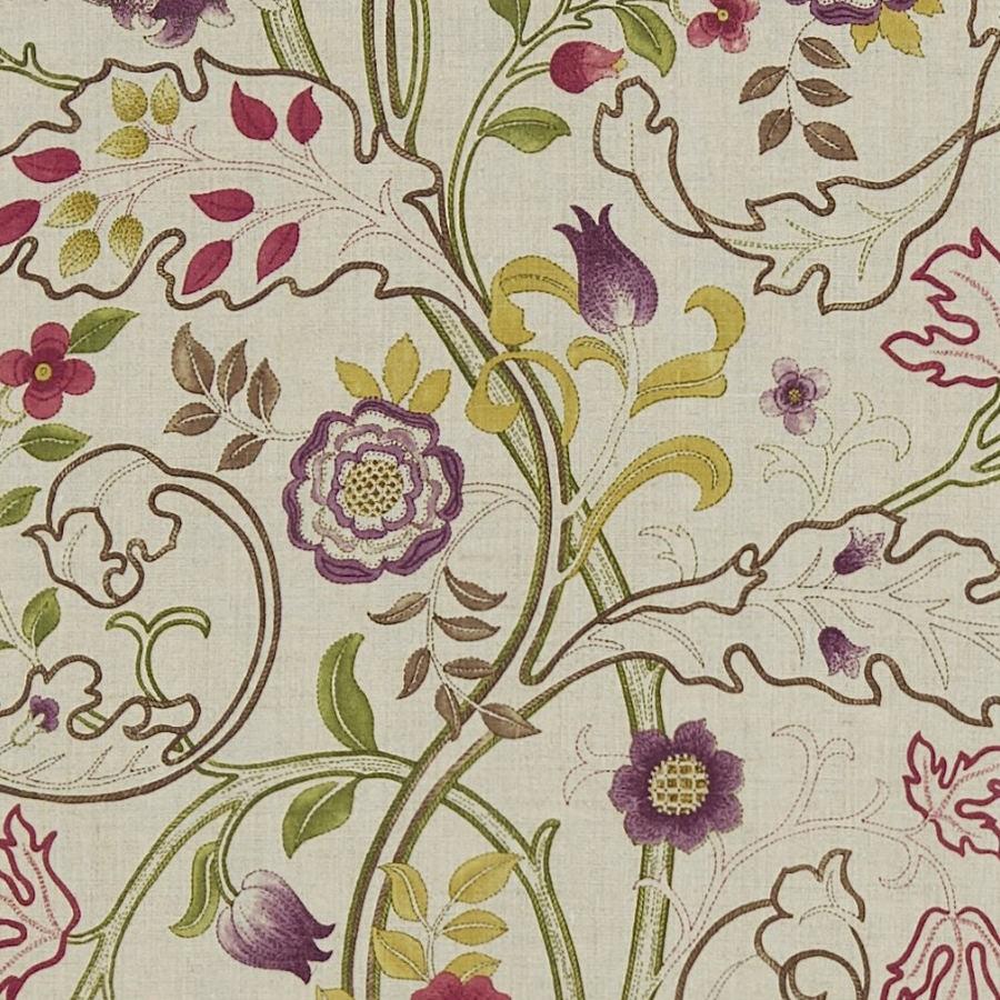 William Morris Tyg Mary Isobel Wine / Linen
