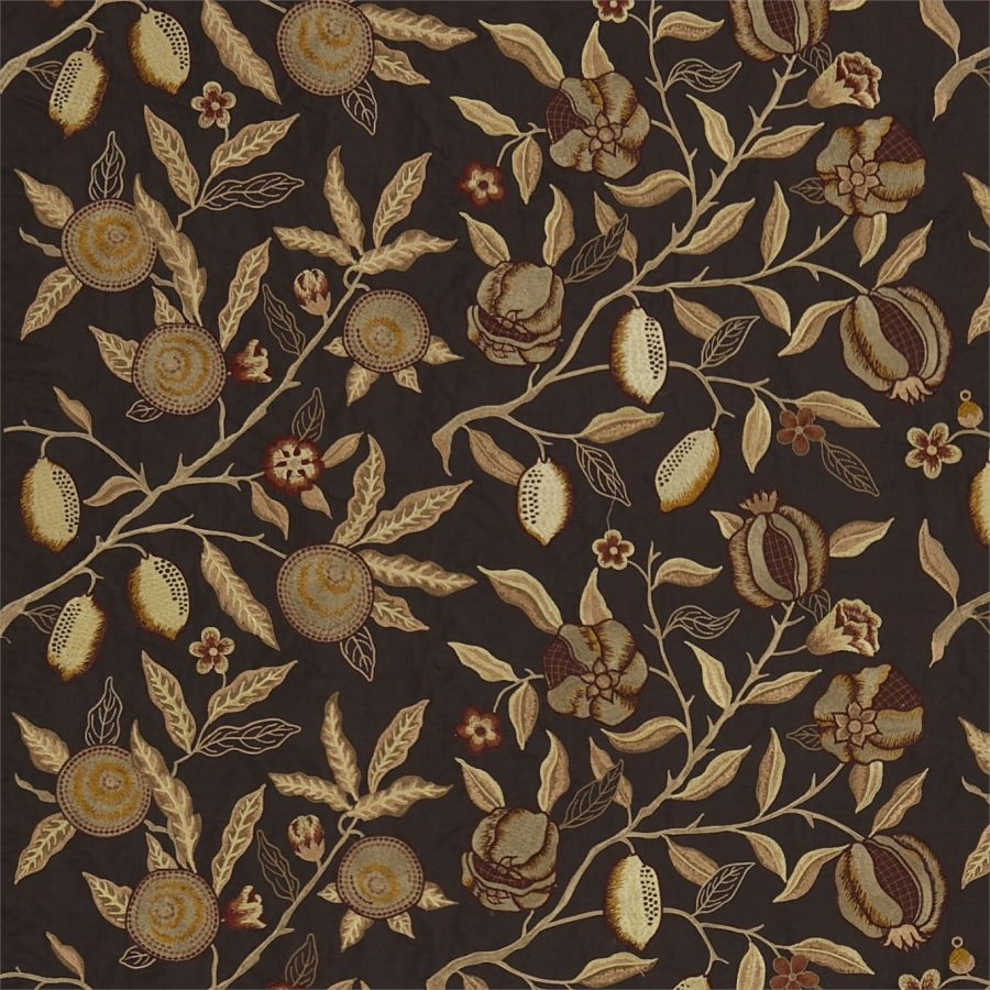 William Morris tyg Fruit Bullrush Lichen