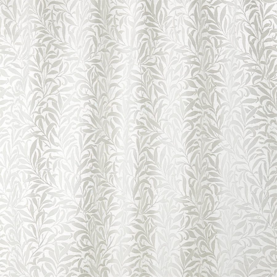 William Morris Tyg Pure Willow Bough Embroidery Paper White