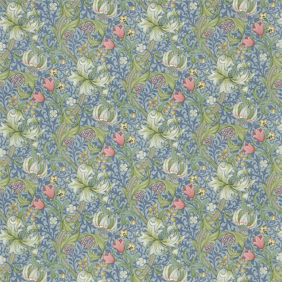 William Morris tyg Golden Lily Mineral