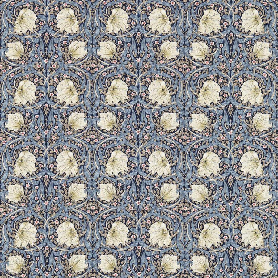 William Morris tyg Pimpernel Indigo / Hemp
