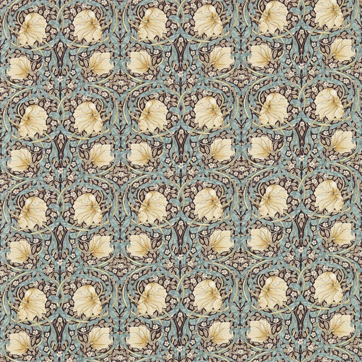 William Morris tyg Pimpernel Bullrush / Slate