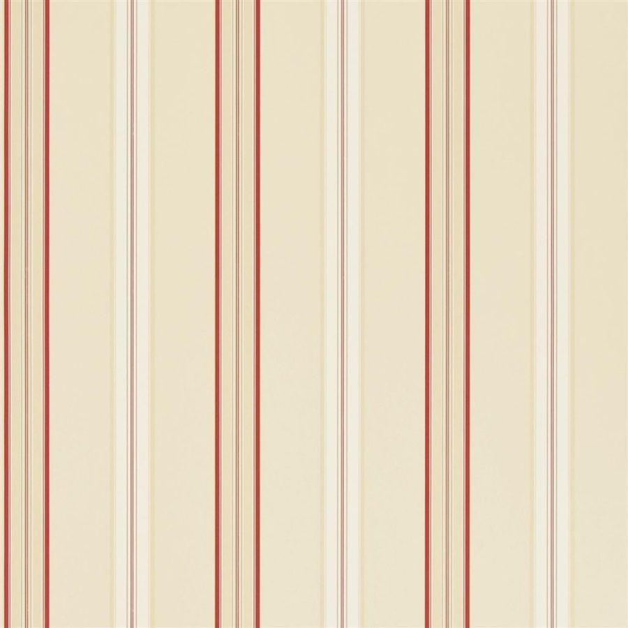 Ralph Lauren Tapet Dunston Stripe Vermilion