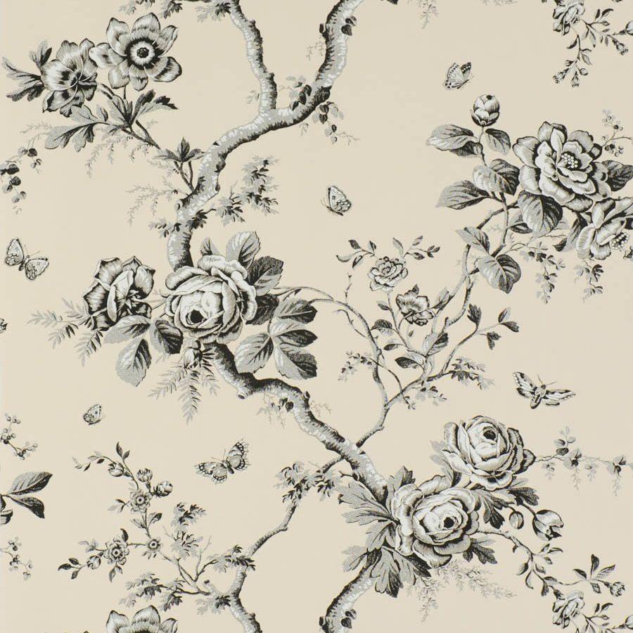 Ralph Lauren Tapet Ashfield Floral Etched Black