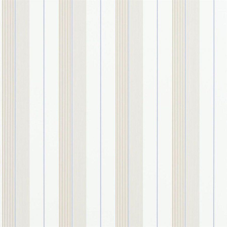 Ralph Lauren Tapet Aiden Stripe Natural Blue