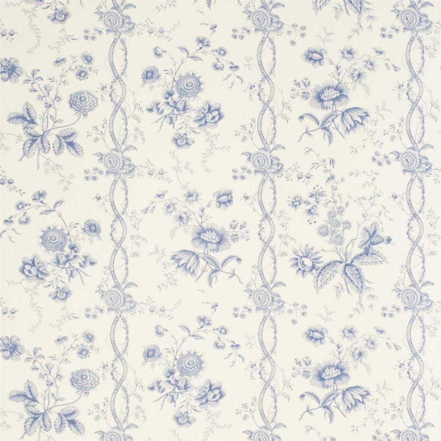 Sanderson Toilé tapet Floral Stripe Blue