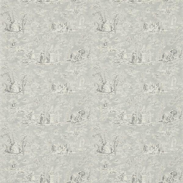 Sanderson Tapet Toilé Josette Porcelain Charcoal Dove