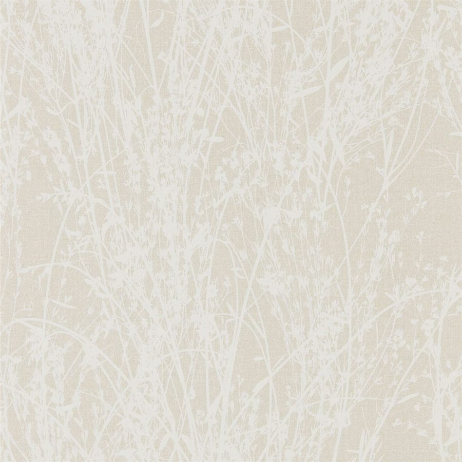 Sanderson Tapet Meadow Canvas White Parchment