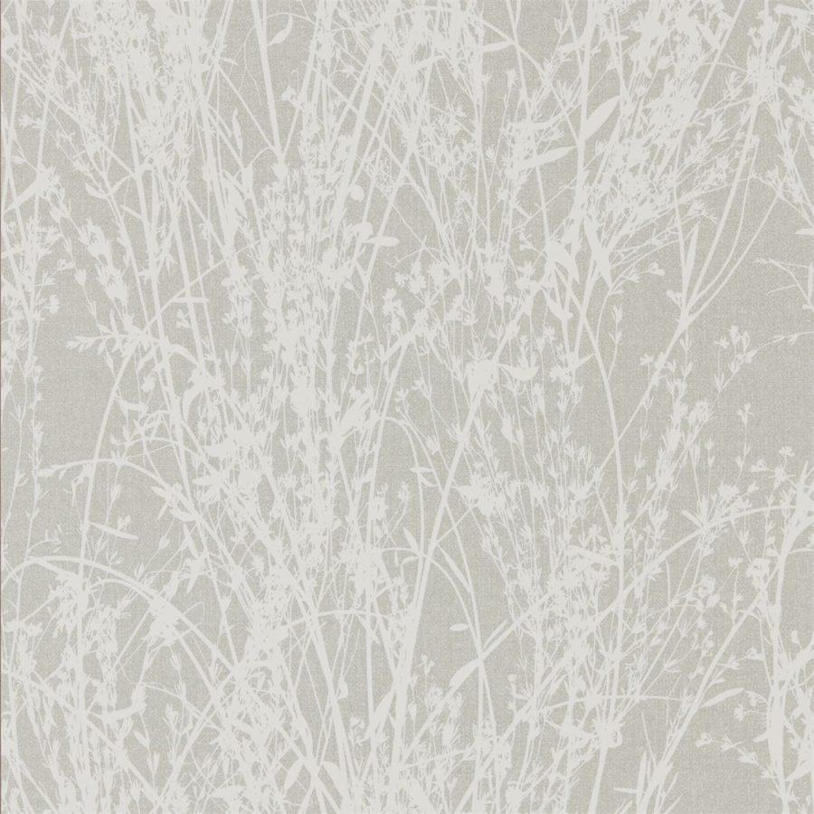 Sanderson Tapet Meadow Canvas White Grey