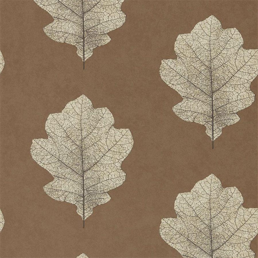 Sanderson Tapet Oak Filigree Copper
