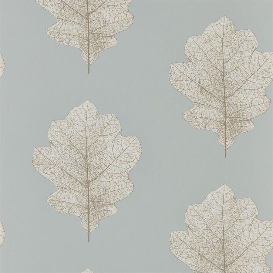 Sanderson Tapet Oak Filigree Grey Blue Silver