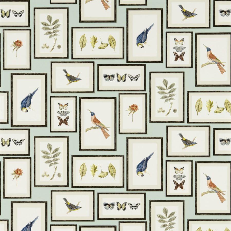 Sanderson Tapet Picture Gallery Aqua Multi