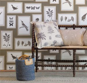 Sanderson Tapet Picture Gallery Taupe Sepia