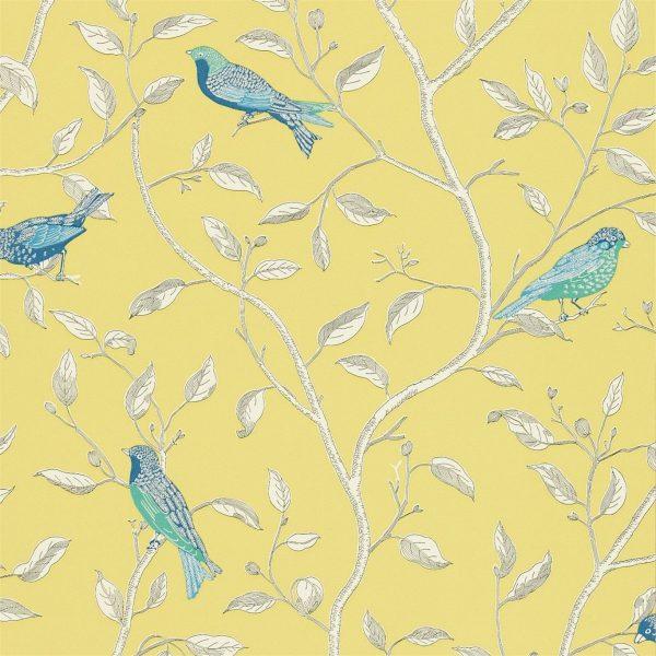 Sanderson Tapet Fåglar Finches