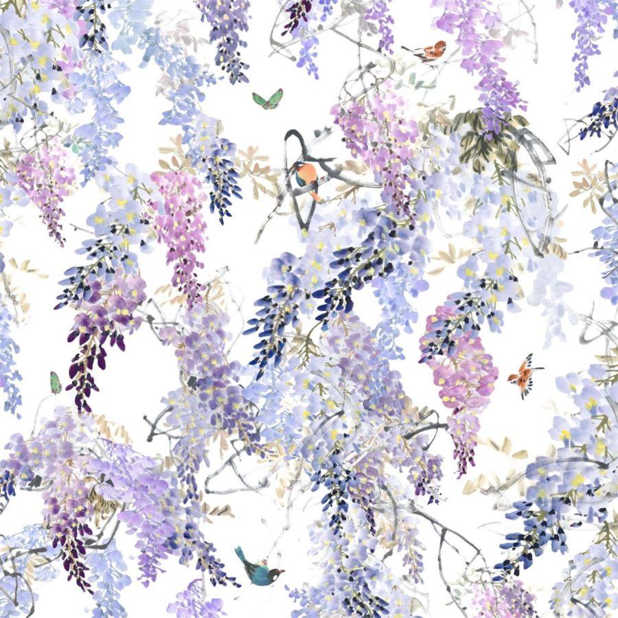 Sanderson Tapet Wisteria Falls lilac B