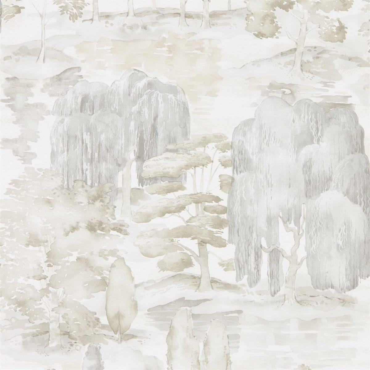 Sanderson Tapet Waterperry Ivory Stone