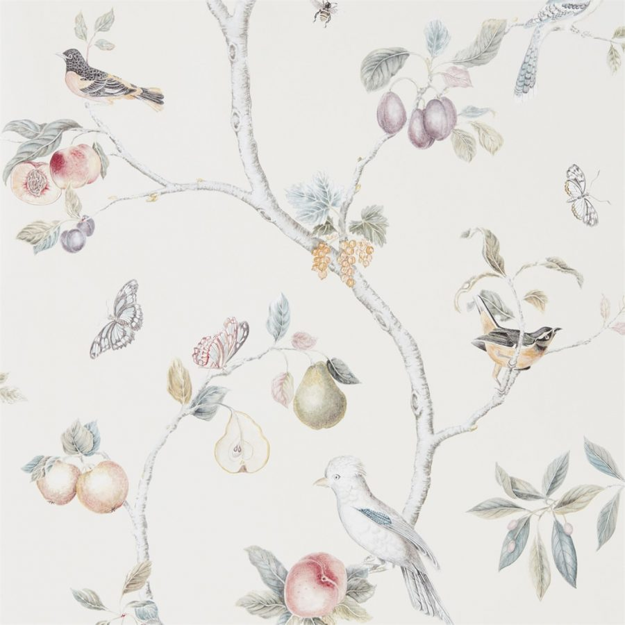 Sanderson tapet Fruit Aviary Cream/Multi