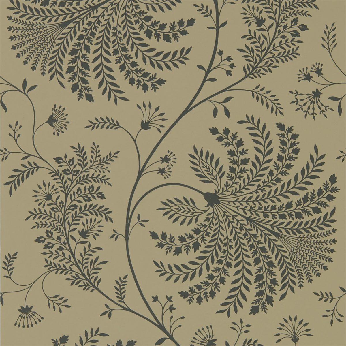Sanderson Tapet Mapperton Charcoal/Gold