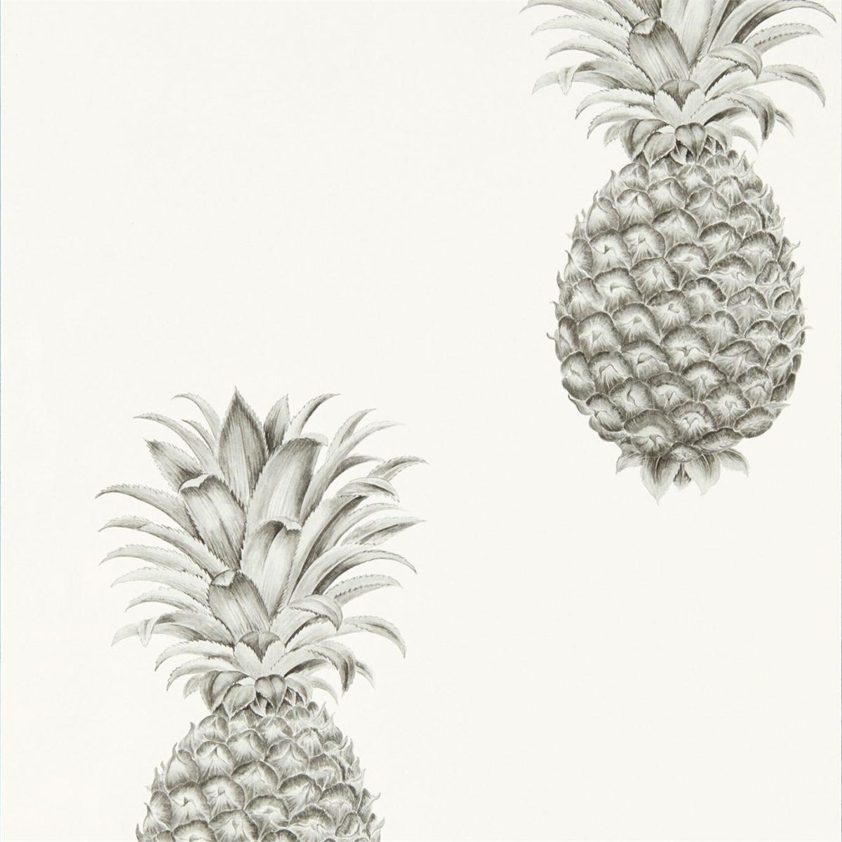 Sanderson Tapet Pineapple Royale Silver / Ivory