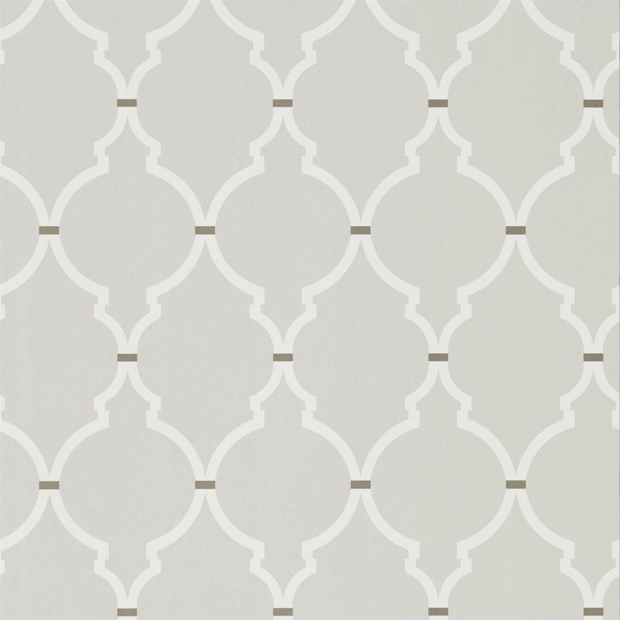 Sanderson Tapet Empire Trellis Silver / Calico