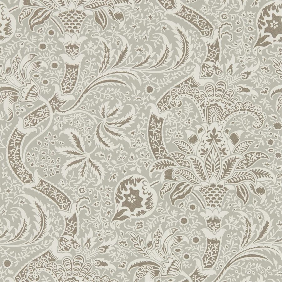 William Morris Tapet Grey / Pewter Archive IV