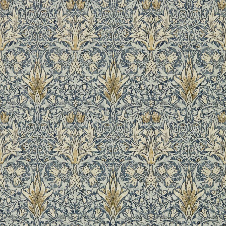 William Morris Tapet Snakeshead Indigo / Cumin Archive IV