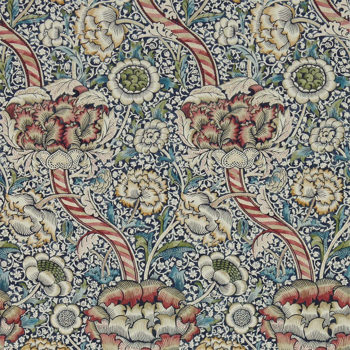 William Morris Tapet Indigo / Madder Archive IV
