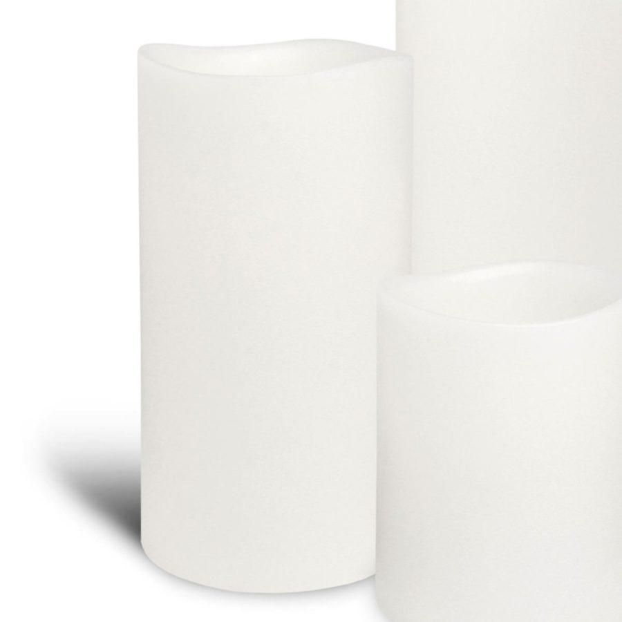 Enjoy Candles LED-ljus batteriljus vita ljusvax 8/15 cm