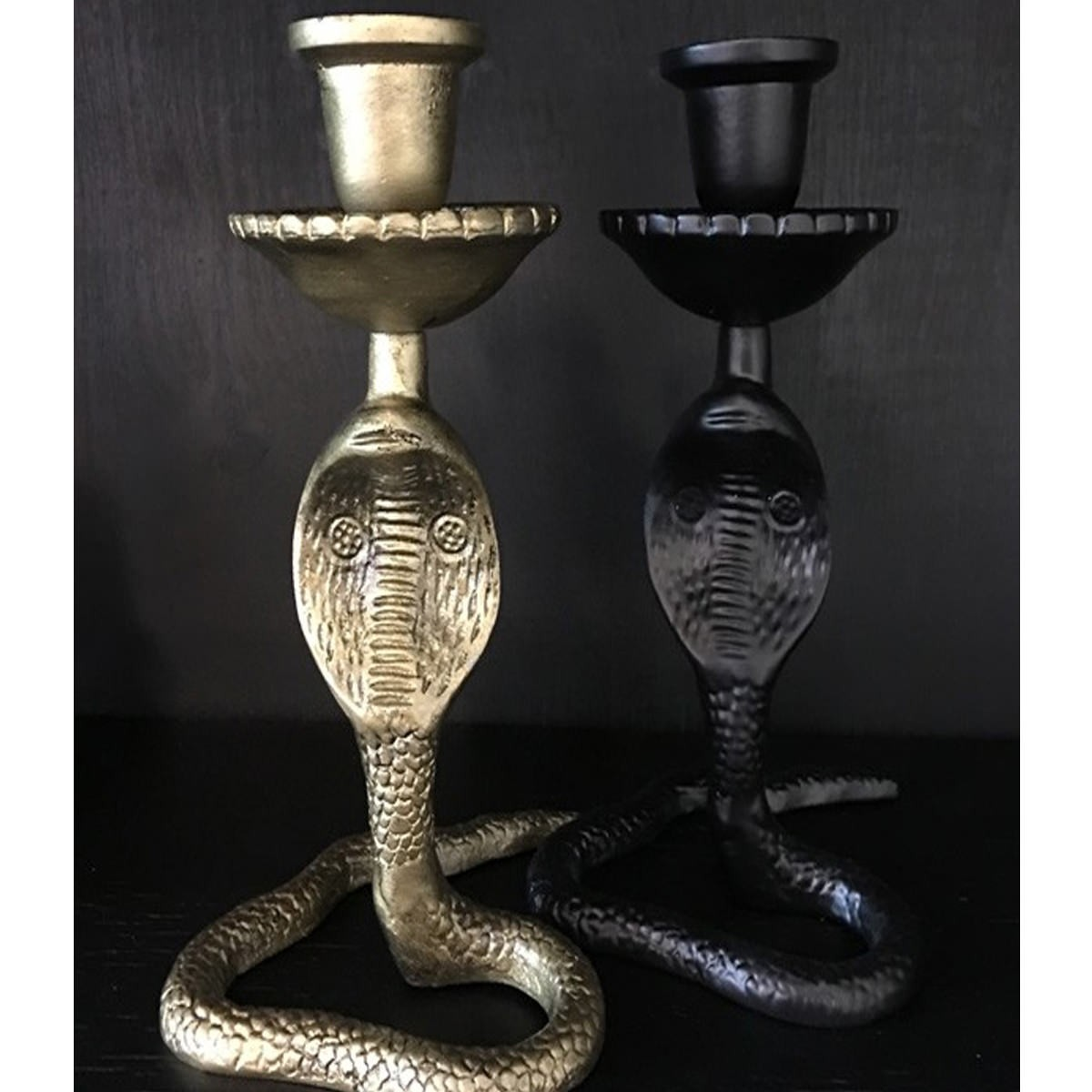Vanilla Fly Ljusstake Snake svart