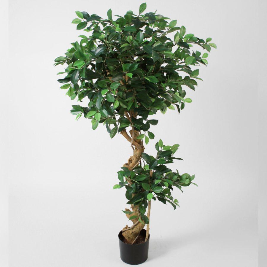 Konstgjorda växter konstgjord fikus krokig stam