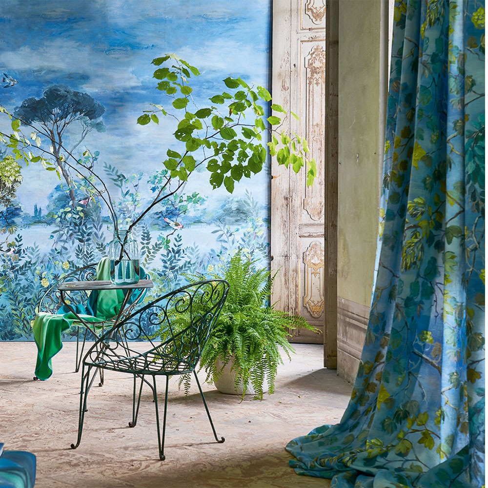 Designers Guild tyg Giardino Segreto Cornflower