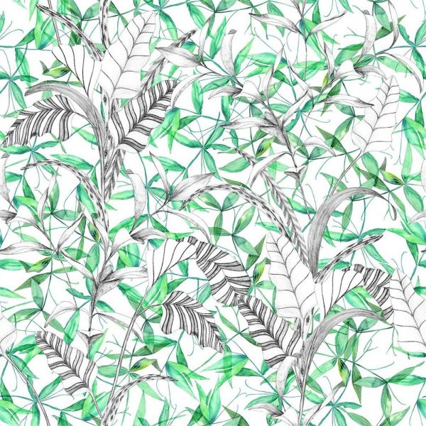 Designers Guild tyg Giardino Segreto Palme Botanique