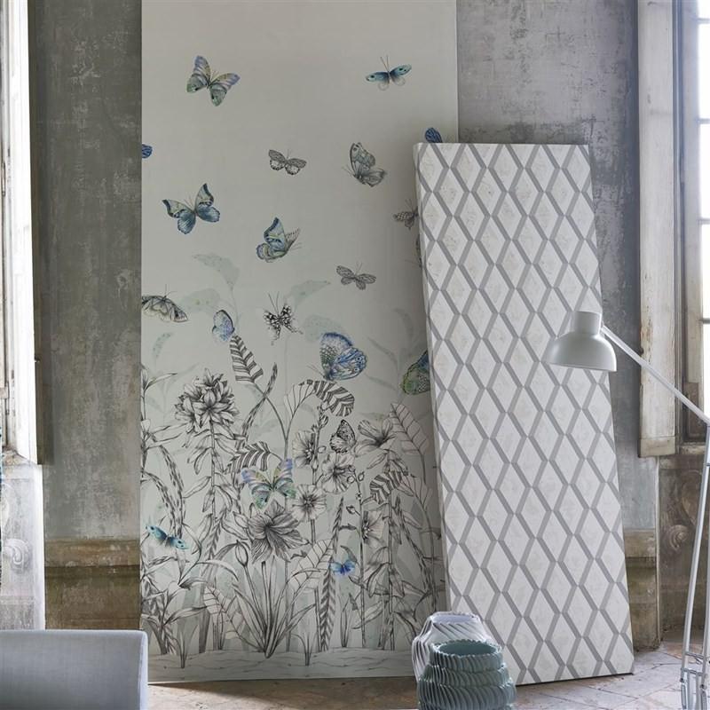 Designers Guild Tapet Papillons Eau De Nil