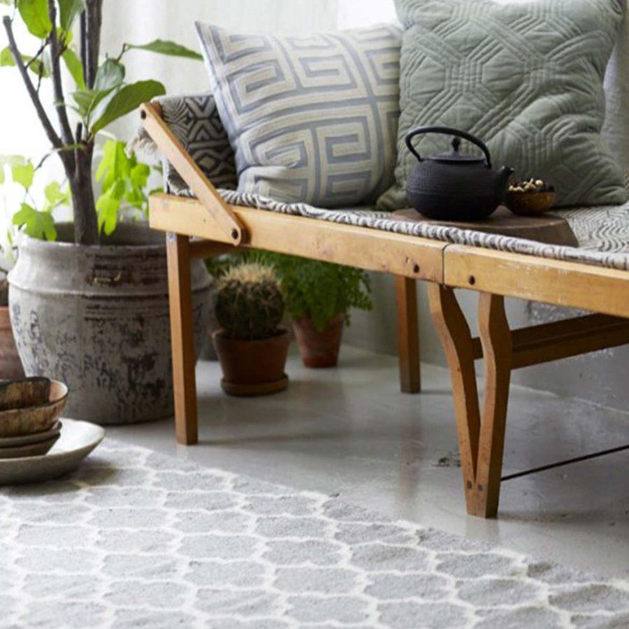 Classic Collection Matta Trellis grå