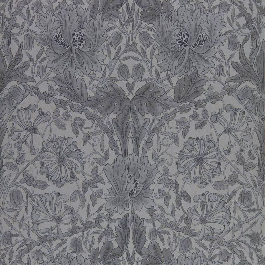Morris & Co Tapet Pure Honeysuckle & Tulip Black Ink